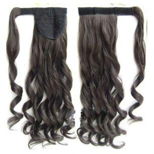 Искусственные термостойкие волосы - хвост волнистые №006 (55 см) -  90 гр.