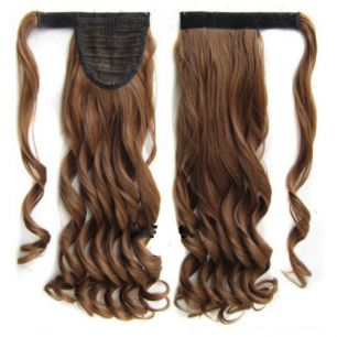 Искусственные термостойкие волосы - хвост волнистые №012 (55 см) -  90 гр.
