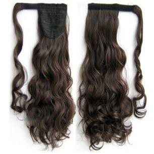 Искусственные термостойкие волосы - хвост волнистые №004 (55 см) -  90 гр.