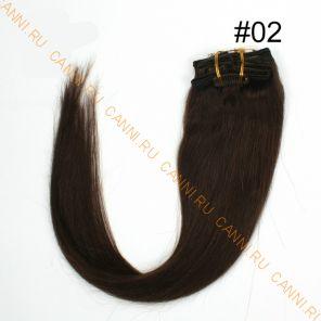 Натуральные волосы на заколках №002 (50 см) - 7 заколок
