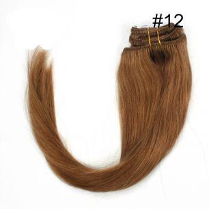 Натуральные волосы на заколках №012 (45 см) - 7 заколок