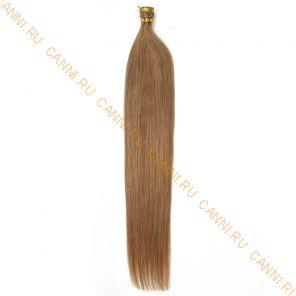 Натуральные волосы на кератиновой капсуле I-тип, №012 - 40 см, 100 капсул.