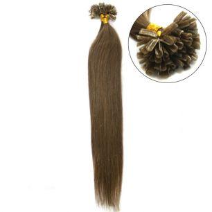 Натуральные волосы на кератиновой капсуле U-тип, №006 - 40 см, 100 капсул.
