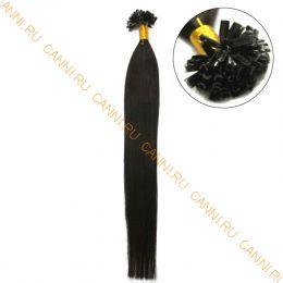 Натуральные волосы на кератиновой капсуле U-тип, №002 - 40 см, 100 капсул.