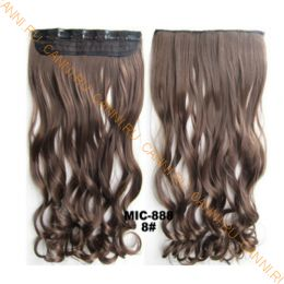 Искусственные термостойкие волосы на заколках на трессе волнистые №008 (55 см) - 1 тресса, 100 гр.