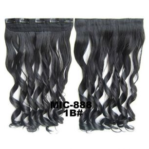 Искусственные термостойкие волосы на заколках на трессе волнистые №001B (55 см) - 1 тресса, 100 гр.
