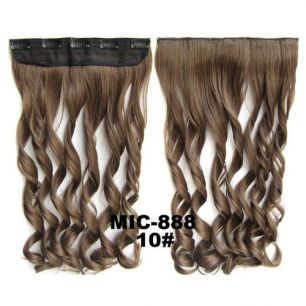 Искусственные термостойкие волосы на заколках на трессе волнистые №010 (55 см) - 1 тресса, 100 гр.