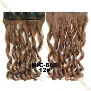 Искусственные термостойкие волосы на заколках на трессе волнистые №012 (55 см) - 1 тресса, 100 гр.